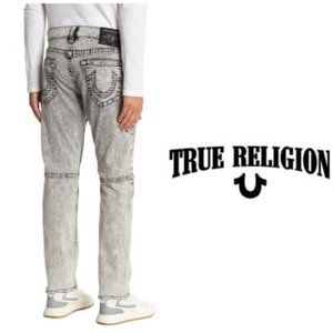 True Religion Mens Moto Relaxed Skinny Jeans Sz 38
